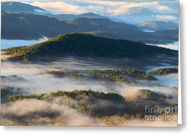 Smoky Greeting Cards - Mountain Valley Dreams Greeting Card by Michael Eingle