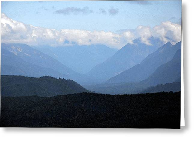 Mountain Valley Greeting Card by Kirt Tisdale