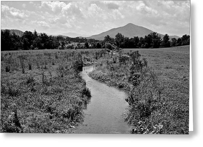 Mountain Valley Greeting Cards - Mountain Valley Stream Greeting Card by Frozen in Time Fine Art Photography