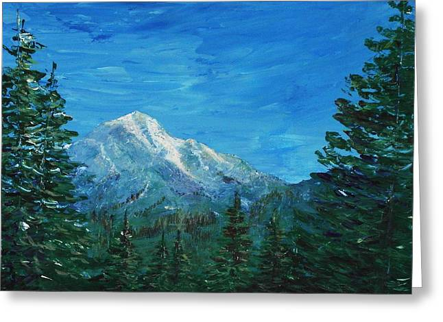 California Art Greeting Cards - Mountain View Greeting Card by Anastasiya Malakhova
