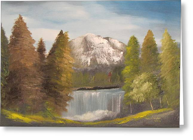 Mountain View Greeting Card by Dawn Nickel