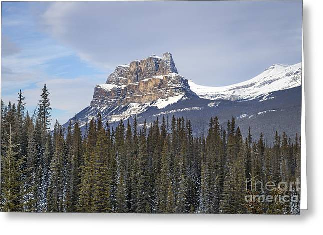 Banff Greeting Cards - Mountain View Greeting Card by Evelina Kremsdorf