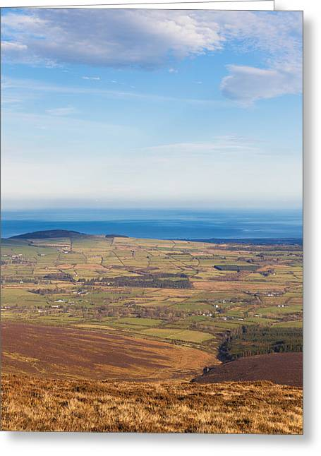 Outlook Greeting Cards - Mountain view from Djouce Mountain towards Greystones Greeting Card by Semmick Photo