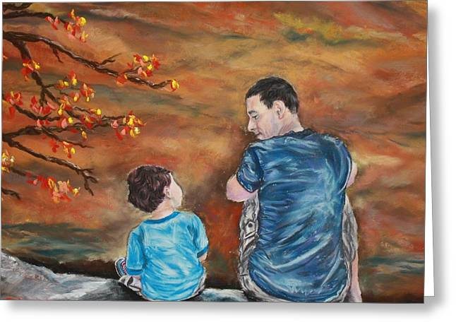 Dad Pastels Greeting Cards - Mountain View Greeting Card by Linda Eversole