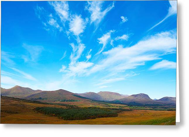 Republic Of Ireland Greeting Cards - Mountain Views Of The Macgillicuddys Greeting Card by Panoramic Images