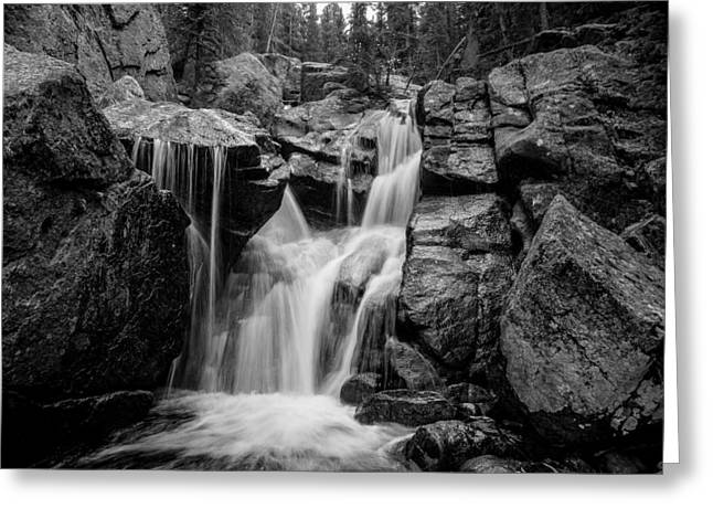 Mountain Waterfall Greeting Card by Garett Gabriel