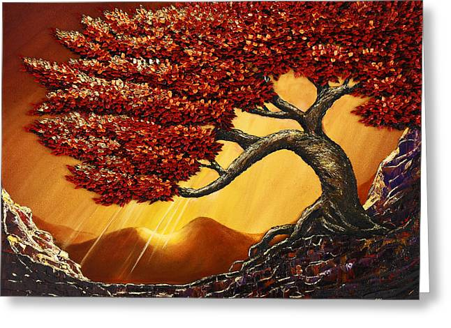 Tree Roots Paintings Greeting Cards - Mountaineer Greeting Card by Ali Mignonne