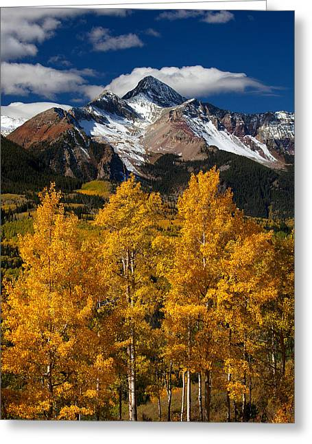 Autumn Scenes Greeting Cards - Mountainous Wonders Greeting Card by Darren  White