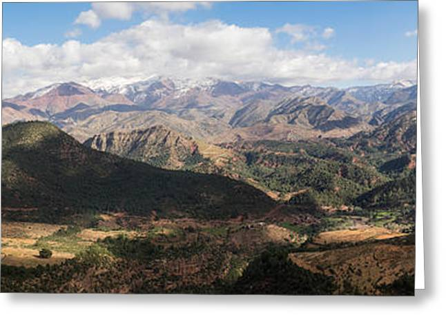 Marrakesh Greeting Cards - Mountains Along N9, Al Haouz Greeting Card by Panoramic Images