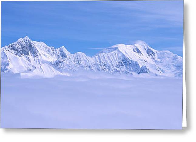 Landforms Greeting Cards - Mountains And Glaciers In Wrangell-st Greeting Card by Panoramic Images