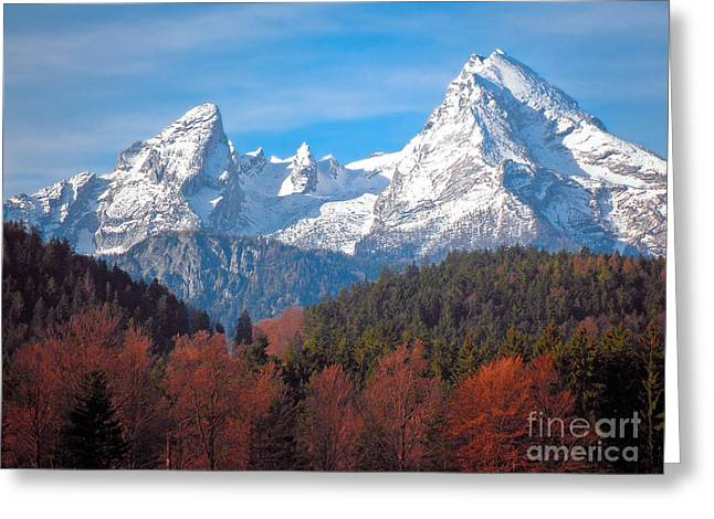 Wanderer Greeting Cards - Mountains And Hills Ii Greeting Card by Viaina