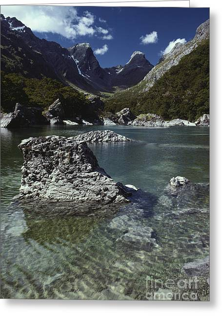 Mountain Valley Greeting Cards - Mountains And Lake Greeting Card by Art Wolfe
