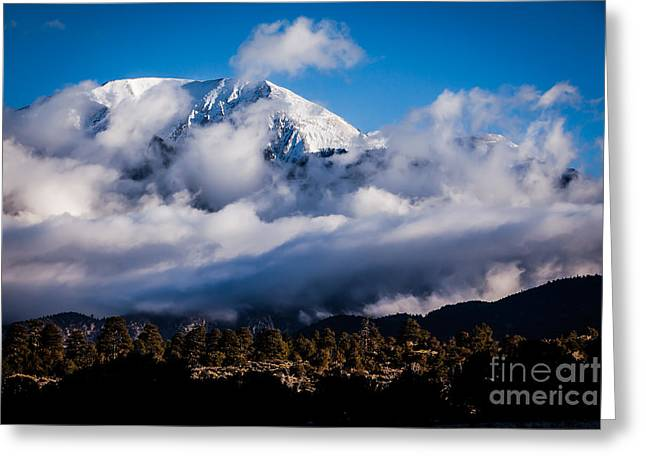 Monte Vista Greeting Cards - Mountains at Sand Dunes Greeting Card by Ray K