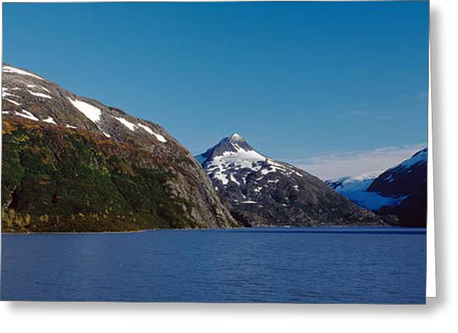 Bard Greeting Cards - Mountains At The Seaside, Chugach Greeting Card by Panoramic Images