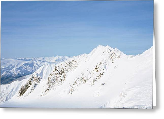 British Columbia Greeting Cards - Mountains Covered With Snow, Cariboo Greeting Card by Panoramic Images