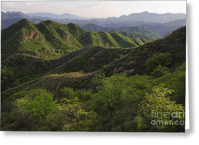 World Destination Photographs Greeting Cards - Mountains In China Greeting Card by John Shaw