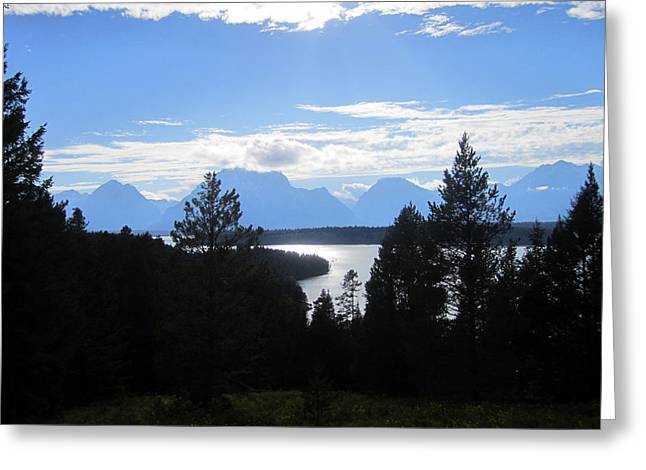 Grand Teton Photographs Greeting Cards - Mountains in Silhouette Greeting Card by Mike Podhorzer
