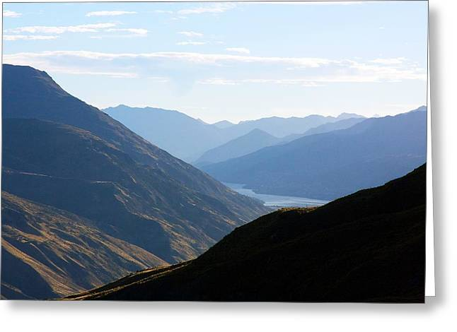 Grey Clouds Greeting Cards - Mountains Meet Lake #3 Greeting Card by Stuart Litoff