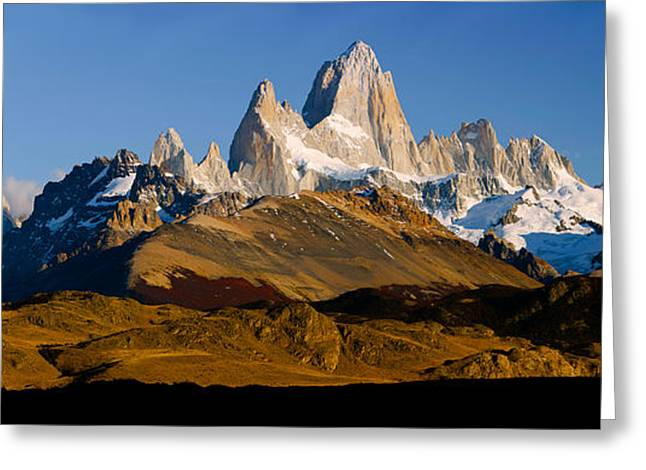 Santa Cruz Greeting Cards - Mountains, Mt Fitzroy, Cerro Torre Greeting Card by Panoramic Images