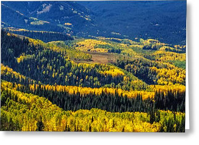 Scenic Drive Greeting Cards - Mountains of Color Greeting Card by Teri Virbickis