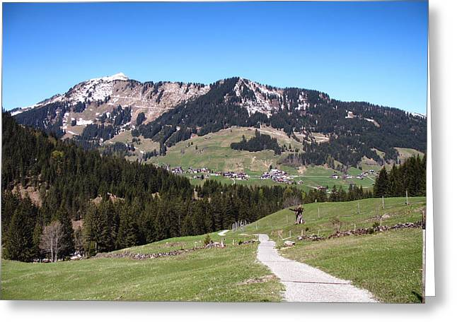 Gravel Road Greeting Cards - Mountains of Germany Greeting Card by Mountain Dreams