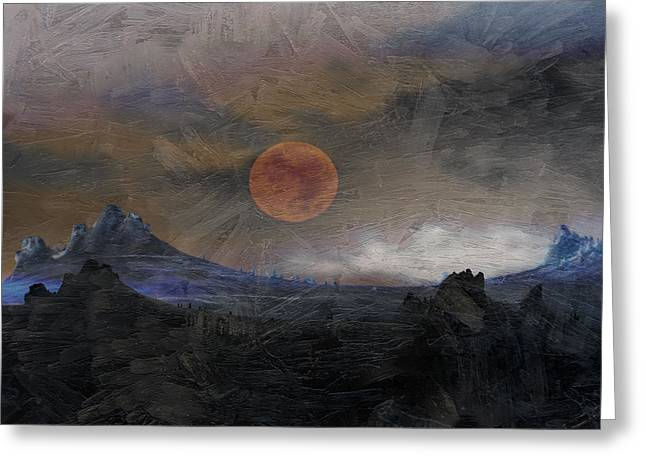 Mystical Landscape Greeting Cards - Mountains of Morlea Greeting Card by Ed Hall