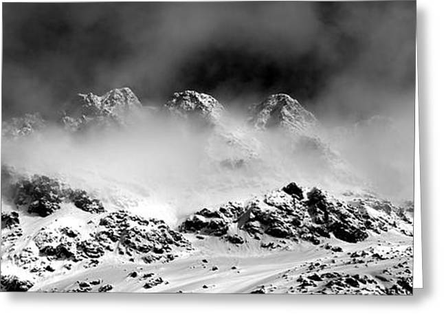 Swiss Greeting Cards - Mountains of Morteratsch Greeting Card by Marc Huebner
