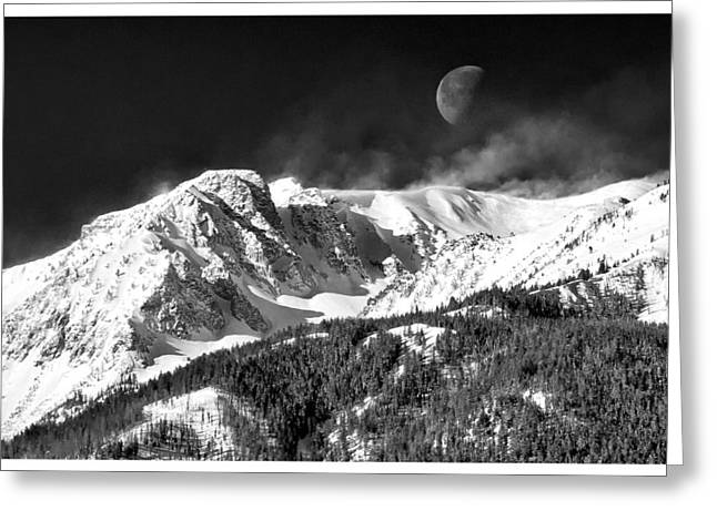 Enterprise Greeting Cards - Mountains of the Moon Greeting Card by Adele Buttolph