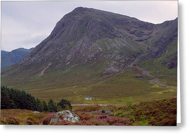 Mountain Greeting Cards - Mountains On A Landscape, Glencoe Greeting Card by Panoramic Images