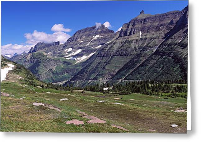 Mountains On A Landscape, Us Glacier Greeting Card by Panoramic Images