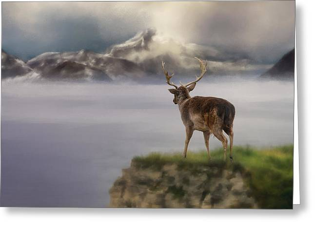 Dama Greeting Cards - Mountains Out Of Reach Greeting Card by Jai Johnson