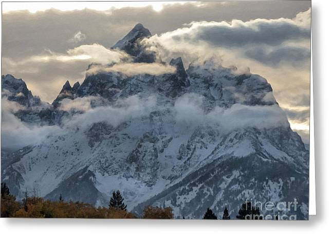 Mountains - Tetons Greeting Card by Wildlife Fine Art