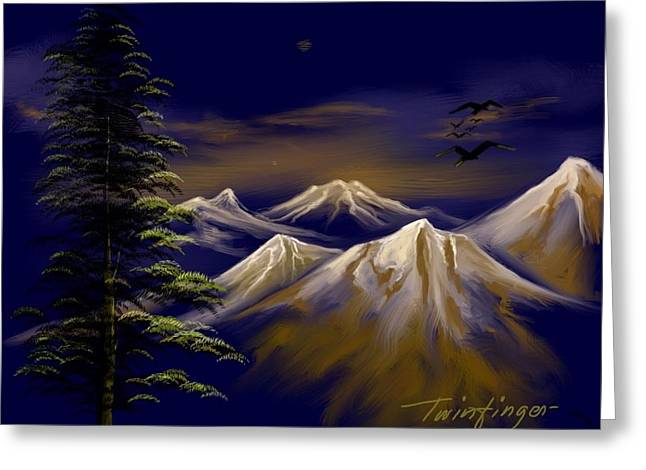 Mountains Greeting Card by Twinfinger
