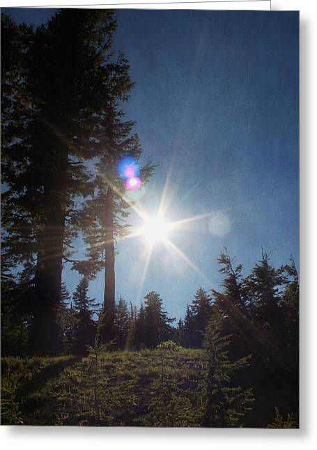 Melanie Lankford Photography Greeting Cards - Mountainside Sunburst Greeting Card by Melanie  Lankford Photography