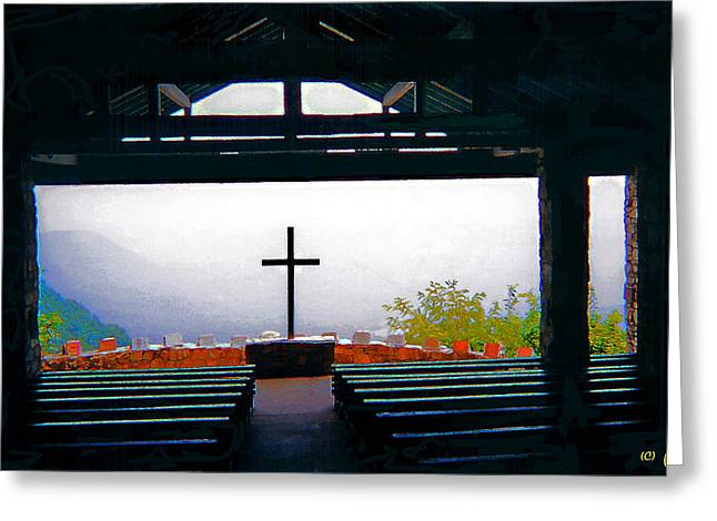 Mountaintop Chapel  Greeting Card by CHAZ Daugherty