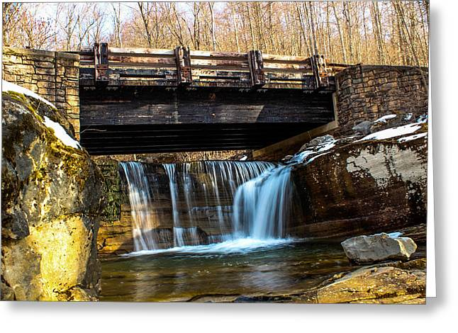 Williamsport Greeting Cards - Mountian Bridge Greeting Card by Jahred Allen