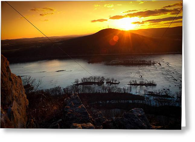 Jahred Allen Photography Greeting Cards - Mountian top Sunset Greeting Card by Jahred Allen
