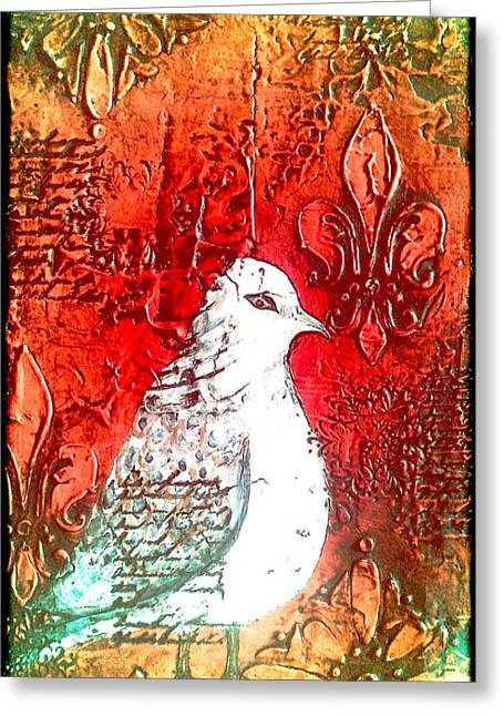 Laura Carter Greeting Cards - Mourning Dove Painting Greeting Card by Laura  Carter