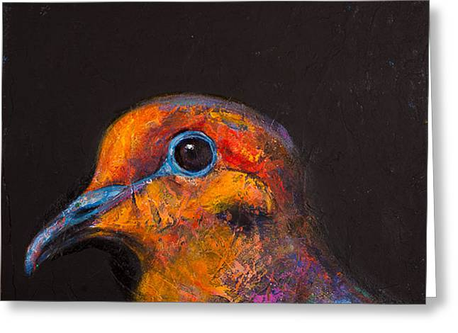 Mourning Dove Greeting Cards - Wondrous Beings - Mourning Dove Greeting Card by Rosemary Conroy