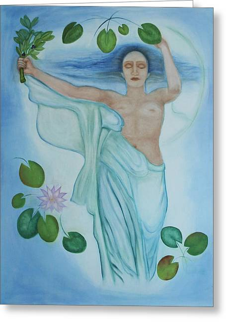 Goddess Birth Art Greeting Cards - Mourning Victory Submerged Greeting Card by Diana Perfect