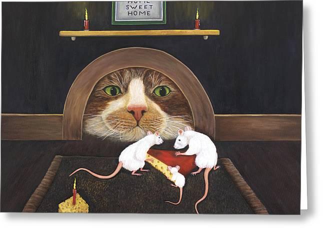 Mouse House Greeting Card by Karen Zuk Rosenblatt