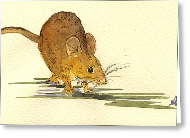 Mouse Greeting Cards - Mouse Greeting Card by Juan  Bosco