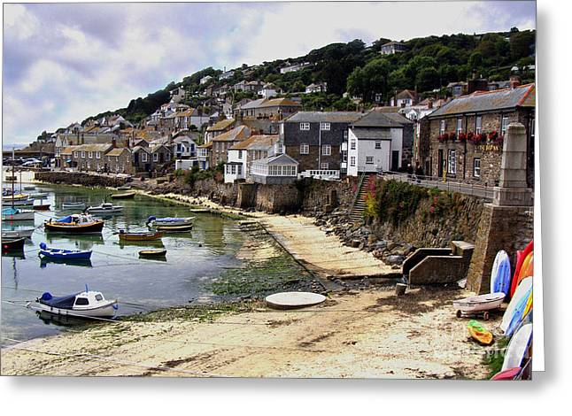 Terri Waters Greeting Cards - Mousehole Harbour Cornwall Greeting Card by Terri  Waters
