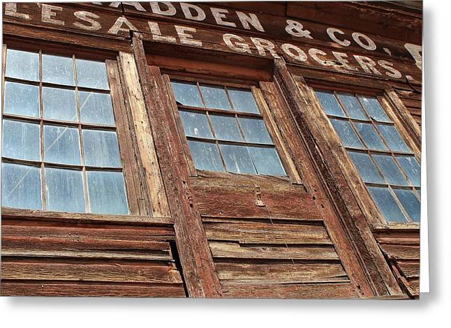 False Front Buildings Greeting Cards - Mouses View Greeting Card by Mark Eisenbeil