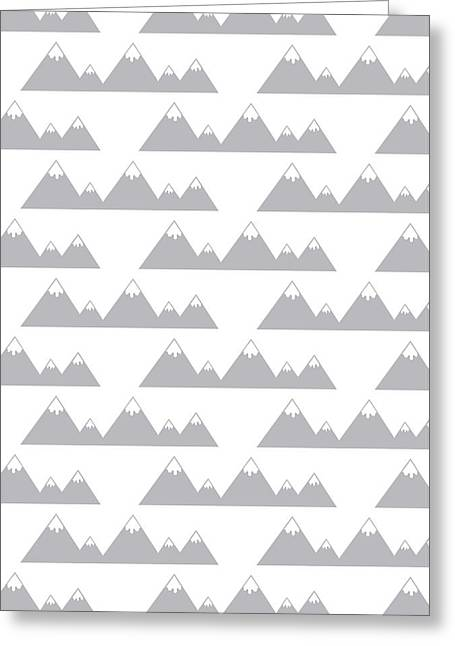 Snow Capped Greeting Cards - Moutain Print Greeting Card by Susan Claire