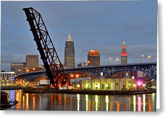 Mouth Of The Cuyahoga Greeting Card by Frozen in Time Fine Art Photography