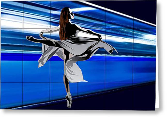 Ballet Dancers Greeting Cards - Mouvement Dance Greeting Card by Roby Marelly