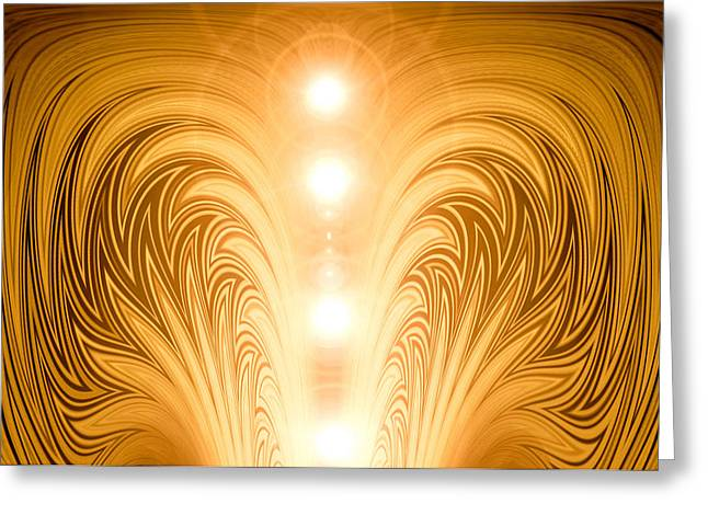Kane Greeting Cards - MoveOnArt BlessingsOfLight Greeting Card by Jacob Kanduch