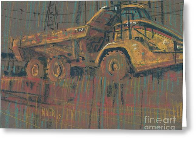 Truck Drawings Greeting Cards - Mover Greeting Card by Donald Maier