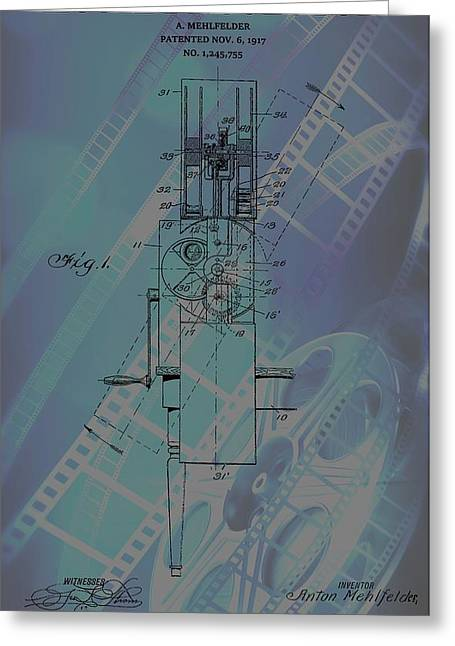 Home Theater Greeting Cards - Movie Projector Poster Greeting Card by Dan Sproul
